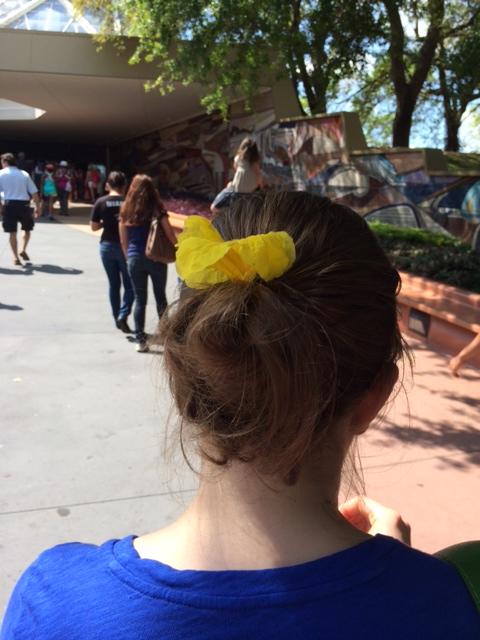 21 - trumpet flower in hair
