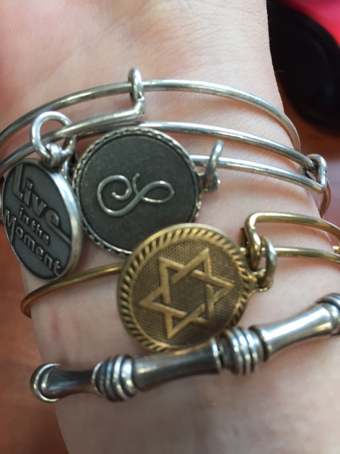 My Alex & Ani bracelets (either purchased by me or received as gifts from friends).